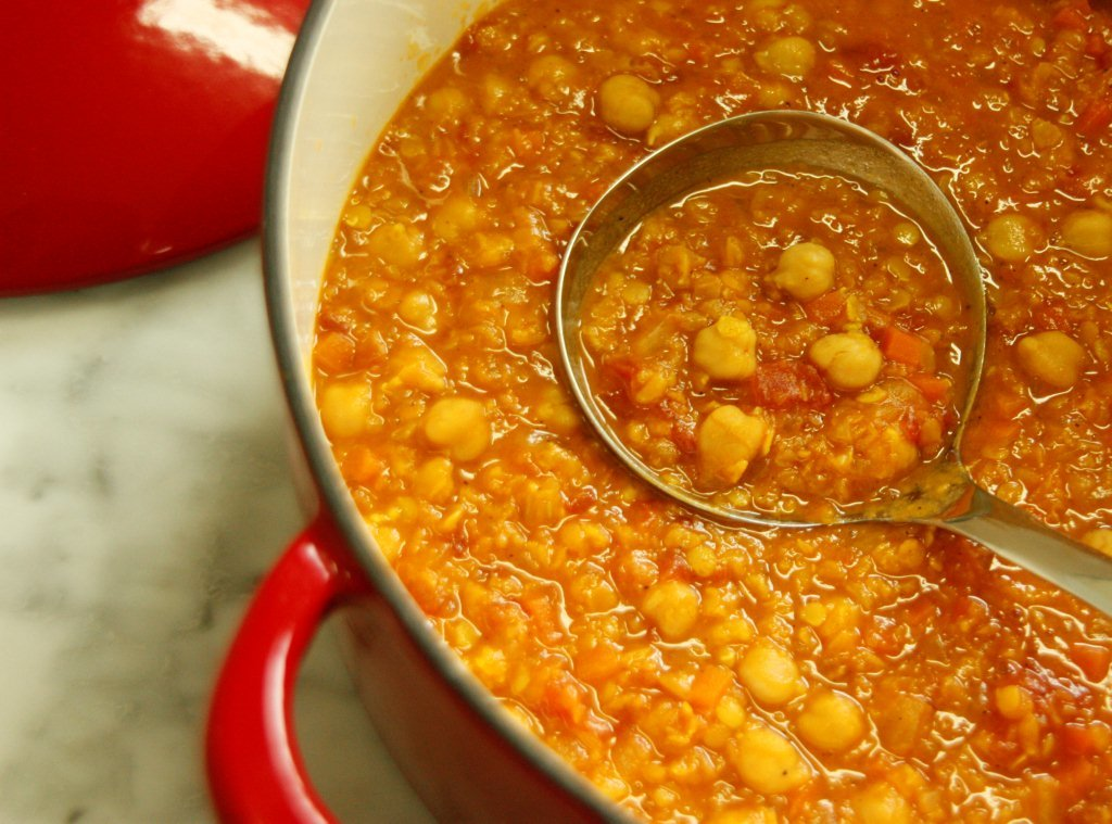 Arabic Zeal » Moroccan-style Lentil Soup with Chickpeas