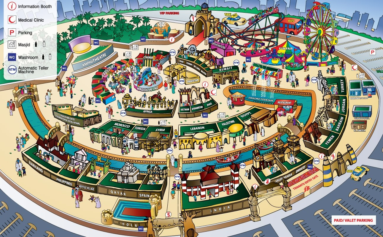 arabic zeal acirc dubai s global village where the world comes together 3