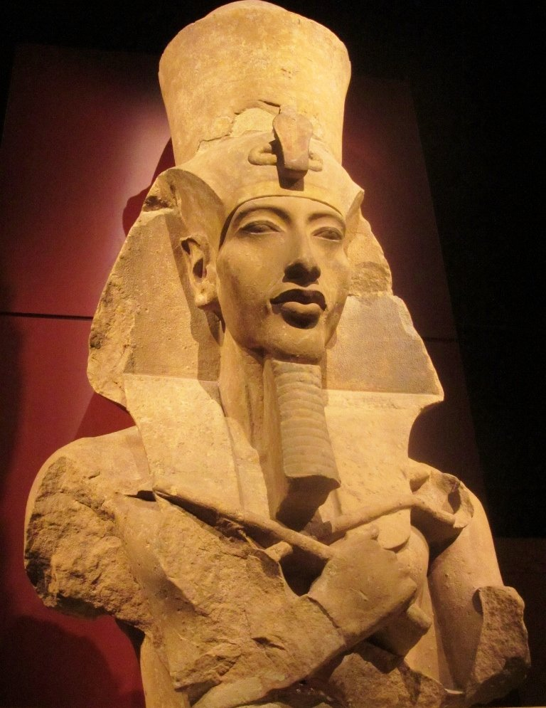 the colossal statue of a pharaoh Colossal red granite statue believed to be egyptian pharaoh amenhotep iii wearing a double crown (pschent) colossal statue of pharao ramesses ii, abu simbel, egypt detail from colossal statue of rameses ii, memphis, egypt, c13th century bc.