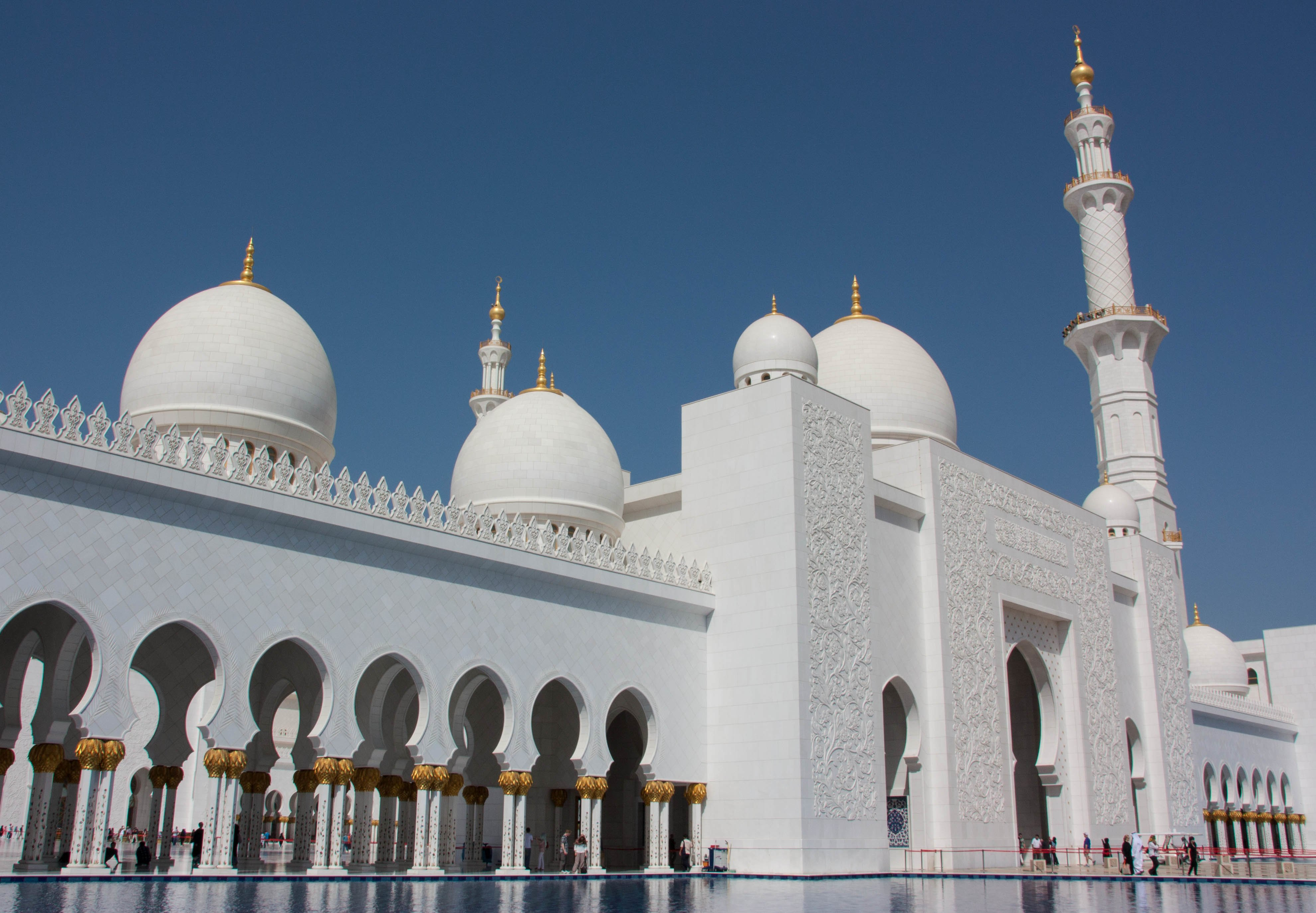 Arabic Zeal Sheikh Zayed Mosque Floral Exquisite