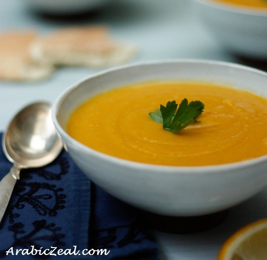 Arabic Lentil Soup for Ramadan