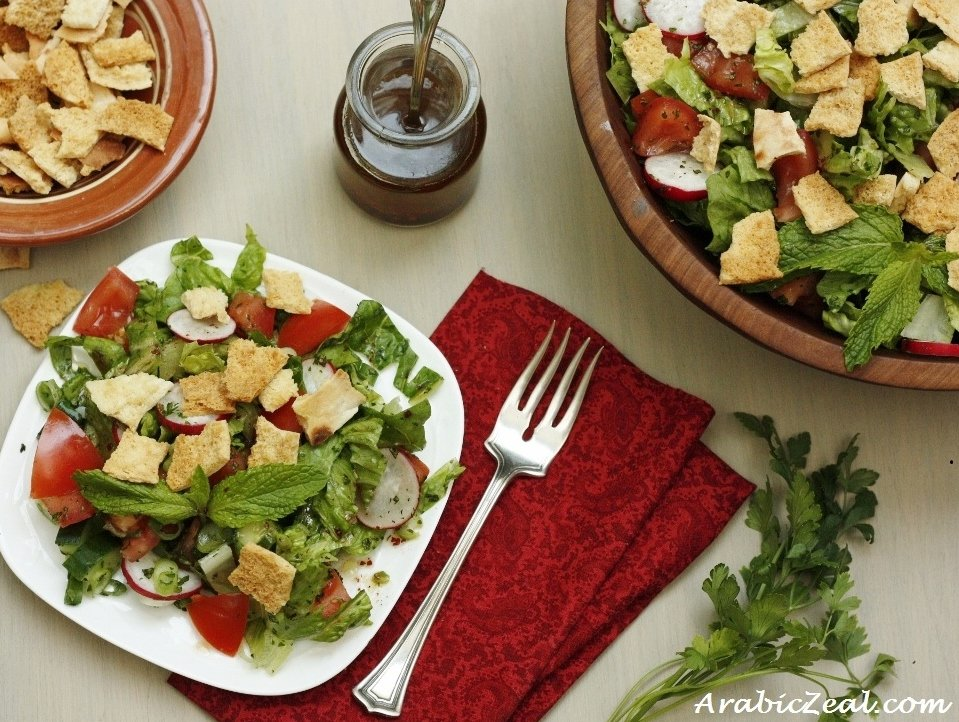 Arabic zeal 2013 july fattoush salad for ramadan forumfinder Gallery