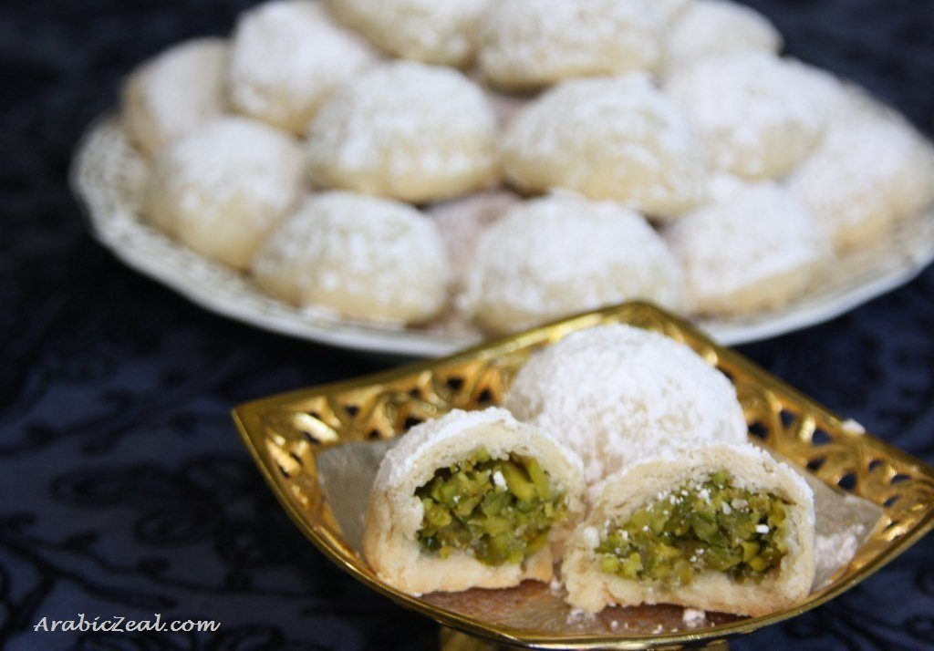 Ma'amoul filled with Pistachios