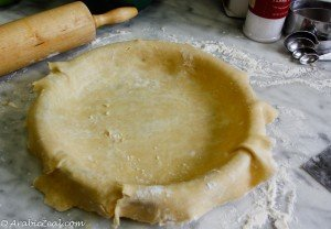 Apple Pie ~ unfold dough in dish