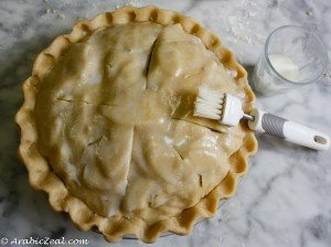 Applie Pie ~ brush top of pastry with milk