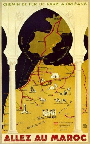 Tangier Vintage Travel Poster