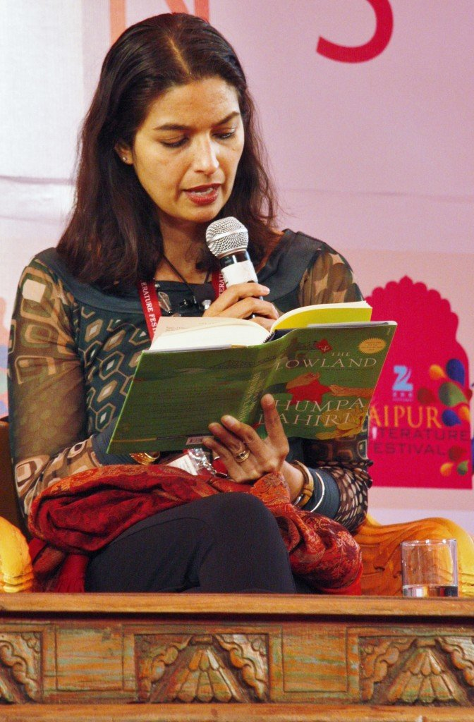 Jaipur Literature Festival  ~ Jhumpa Lahiri reading The Lowland