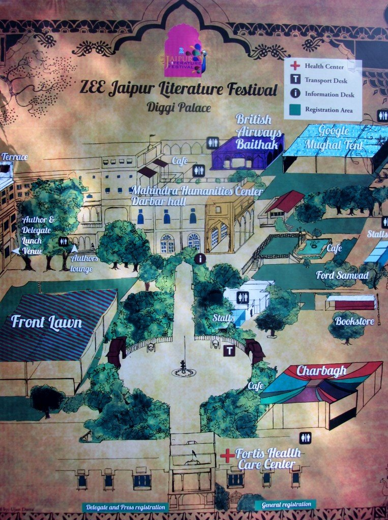 Jaipur Literature Festival ~ map of Diggi Palace