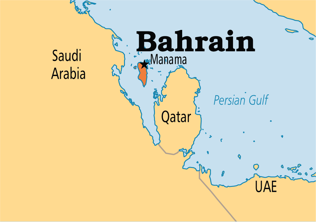 Bahrain Gulf Map