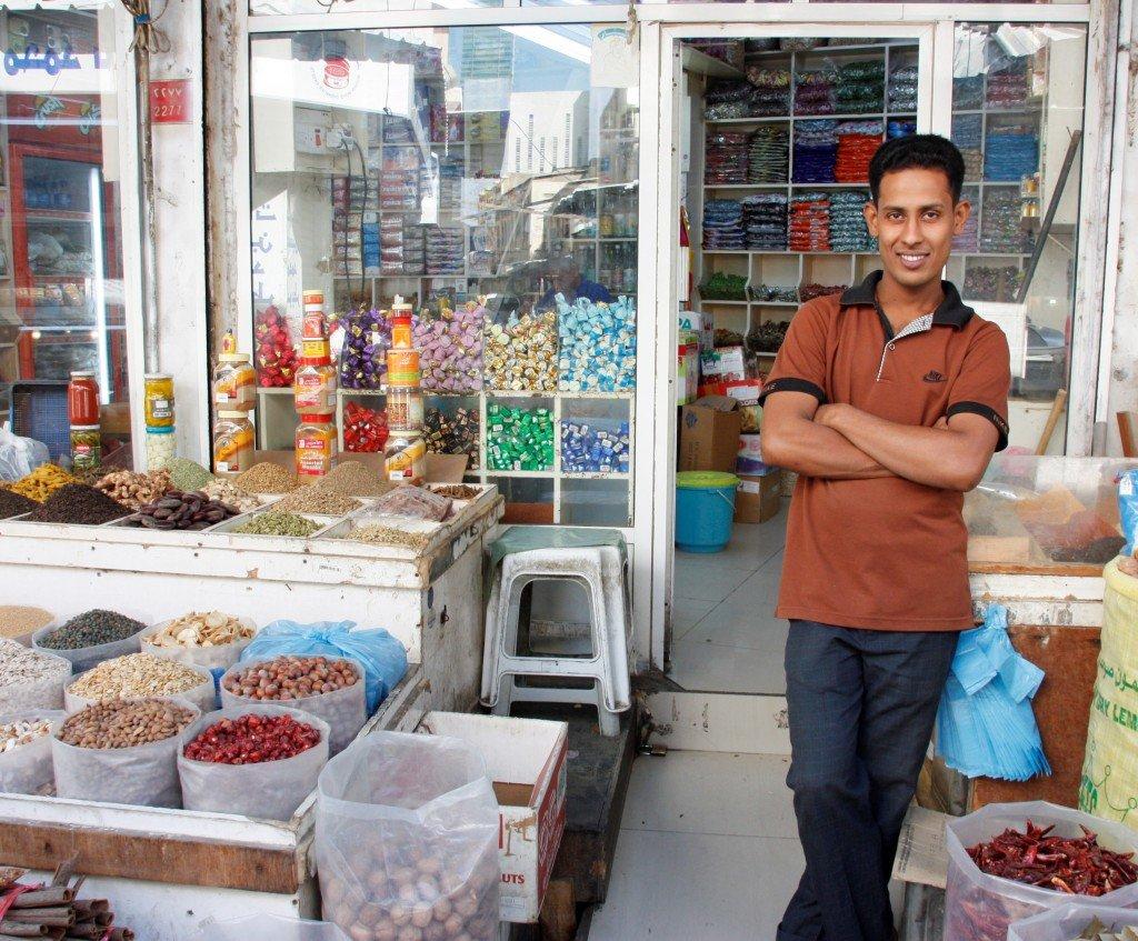 Bahrain souk shopkeeper