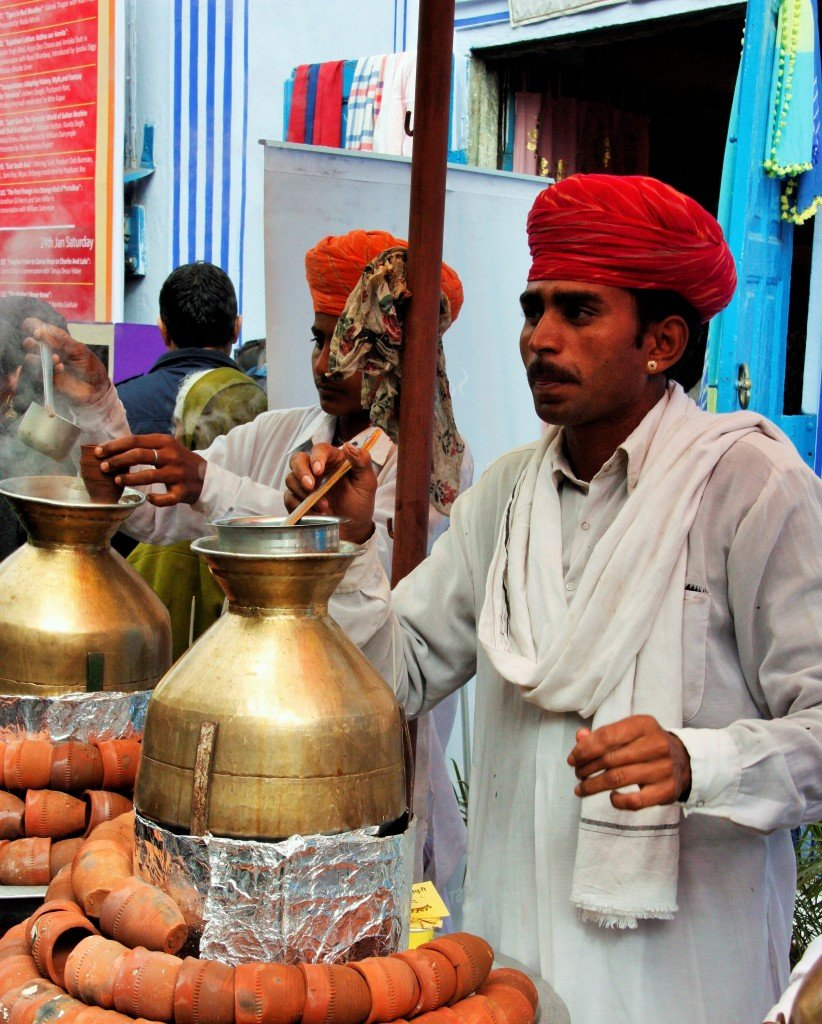 Jaipur Literature Festival - tea sellers