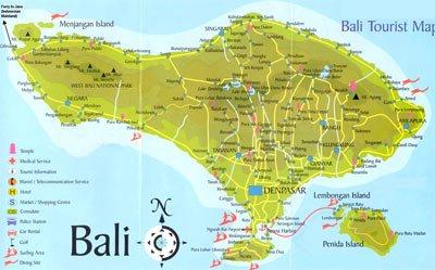 Ubud bali-map