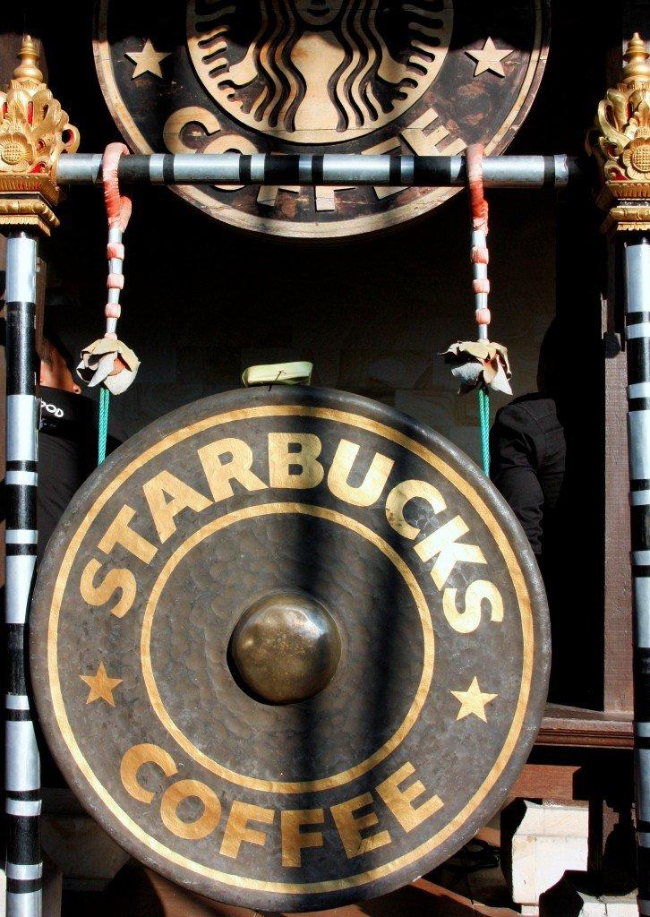 Ubud Starbucks Gong